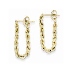 14K Hollow Rope Earrings
