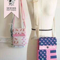 You will LOVE making the June Bag, a cross body bag sewing pattern. Make yourself a mini messenger bag that is perfect for traveling. This bag is. Easy Sewing Projects, Sewing Projects For Beginners, Sewing Hacks, Sewing Tips, Sewing Tutorials, Sewing Crafts, Sewing Ideas, Bag Patterns To Sew, Sewing Patterns Free