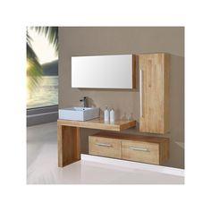 meuble de salle de bain simple vasque bois naturel sd9250bn salledebain - Meuble Delpha Unique Onde
