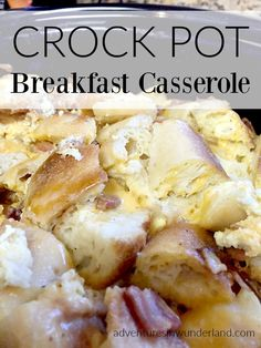 Delicious and easy to make breakfast casserole in your crock pot