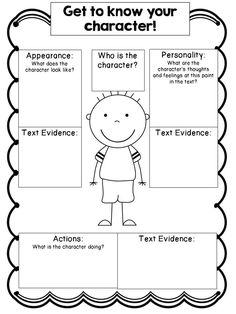 Character Mapping is another fun way to teach a child how to ...