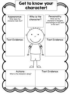 Character Study Organizers