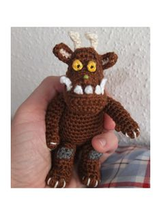 Why not try your hand at this lovely Gruffalo crochet! Puppet Patterns, Knitting Patterns, Crochet Patterns, Diy Crochet, Crochet Toys, Crochet Baby, Gruffalo's Child, Story Sack, The Gruffalo