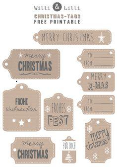 Willi & Lilli: schnell noch Päckchen packen... Etiketten für Weihnachten zum Ausdrucken