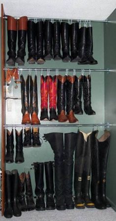 Boot storage- Claudia u need this & Organized shoe storage without using an inch of precious floor space ...