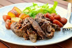 Classic Roast Beef Recipe & Smashed Yukon Gold Potatoes ...