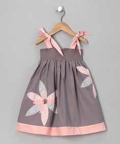 Take a look at this Gray & Blush Leah Dress - Infant & Toddler by Sophie Catalou & Kartoons Kataloons on today! Toddler Dress, Toddler Outfits, Baby Dress, Kids Outfits, Infant Toddler, Toddler Girls, Fashion Kids, Baby Girl Fashion, Little Dresses
