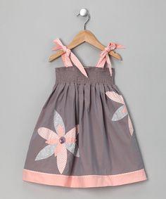 Gray & Blush Leah Dress - (Sophie Catalou & Kartoons Kataloons)