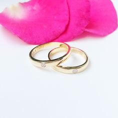 Nhẫn cưới Kim cương | Diamond wedding rings | Trang sức vàng | AME Jewellery