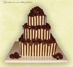 Torta di matrimonio cioccolato plastico