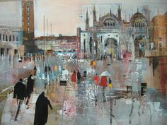 'Wet Day in St. Color Pop, Cityscape, New Artists, Artist, Painting, Seascape, Abstract, Color