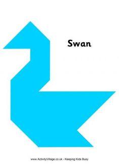 Tangram Pattern Swan