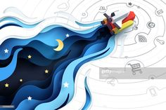 Find Paper Art Spaceship Fly Explore Social stock images in HD and millions of other royalty-free stock photos, illustrations and vectors in the Shutterstock collection. 3d Paper Art, Paper Crafts, Kirigami, Paper Illustration, Illustrations, Banners, Cut Out Art, Folders, Design 3d