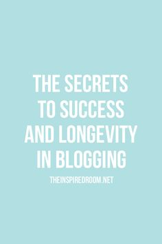 Important tips, advice, and encouragement for bloggers. These tips are absolutely essential for a blog to be successful long term. Ask yourself these questions!