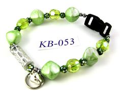 KB053 Mint and Lime Green acrylic and polyclay by OklahomaMama, $10.00
