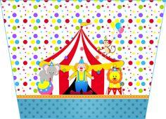 Kit para impressão grátis Circo meninos Circus Theme, Circus Party, Circus Circus, Balloon Arch, Balloons, Clown Cupcakes, Carnival Cakes, Clown Party, Colorful Desserts
