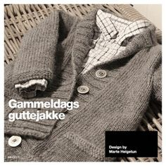 God gammeldags guttejakke pattern by Marte Helgetun Best Scissors, Safety Scissors, Knitting For Kids, Knitting Designs, Little People, Timeless Design, Boy Fashion, Knit Crochet, Men Sweater