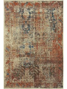 Maliha Rug, Rust and Cream