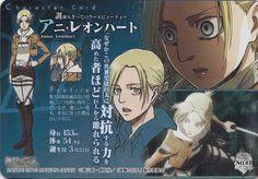 Attack On Titan Series, Attack On Titan Anime, Anime Naruto, Manga Anime, Female Titan, Annie Leonhart, Aot Characters, Great Love Stories, Popular Anime