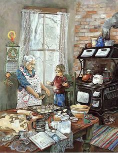 Na casa da avó. Maravilha!