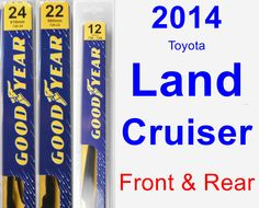 Front & Rear Wiper Blade Pack for 2014 Toyota Land Cruiser - Premium