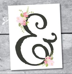 Ampersand Art Print INSTANT DOWNLOAD Printable by by ItsyBelle, $7.50