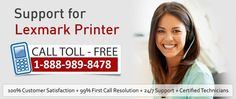 If your #Lexmark_printer is not working properly or showing any #problem at the time of printing the document, you should take help of experts to find the actual problem and fix it timely.call@1-888-989-8478 Lexmark Printer Customer support phone number. More info:http://printercustomersupport.com/lexmark-printer-support.php