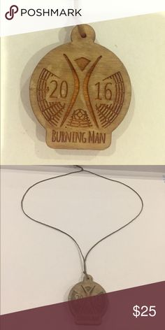 Burning Man wooden necklace 2016 Burning Man wooden necklace. Definitely an awesome piece that you can only get from the works famous event itself!!! Jewelry Necklaces