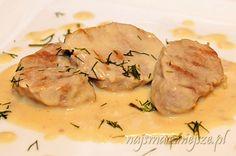 Polędwiczki wieprzowe w sosie kremowym