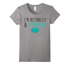 Mermaid T-Shirt Men Women And Girls Styles - Female Medium - Slate