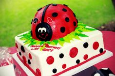 lady bug cake...I'm going to attempt this for Jayden's 3rd bday