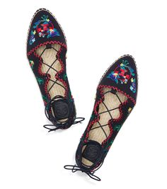 EMBROIDERED GHILLIE ESPADRILLE