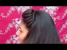 Easy Fishtail hairstyle || 2 min fishtail hairstyle for collage girls - YouTube #braidedhairstylestutorials