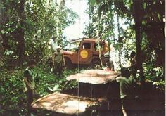 One of the 3 1961 Corvairs was abandoned back in 1962 trying to cross the Darien Gap; this photo was taken in 1990.
