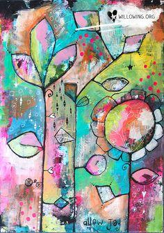 Permiten alegría impresión del arte por willowing en Etsy