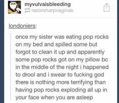 Pop rocks lol