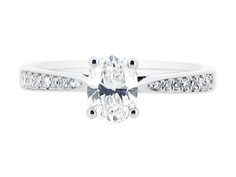 Solitaire tapered, channel set, 4 prongs. EXCEPT I want a ROUND stone