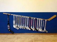 Ideas Diy Headboard Ideas For Boys Sons Hockey Sticks For 2019 Boys Room Decor, Boy Room, Kids Room, Hockey Bedroom, Hockey Decor, Diy Headboards, Headboard Ideas, Hockey Mom, Hockey Stuff