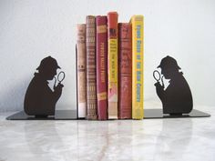 Quite attractive Sherlock Holmes Metal Bookends to help corral your growing library.