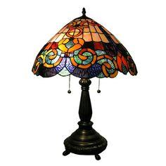 Warehouse of Tiffany WHT002 2 Light Style San Fran Table Lamp