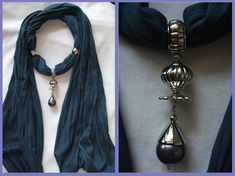love this new trend: scarves with pendant charms!