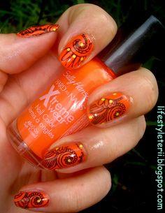 Kolorowy Świat Terii: Pomarańczowy Świat, Sally Hansen Xtreme wear, 150 ...