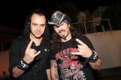 Fernando Ribeiro e Mike Gaspar (Moonspell)