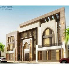 Morrocan Architecture, Mosque Architecture, Modern Architecture, Classic House Design, House Front Design, Modern House Design, Villa Design, Facade Design, Interior Exterior