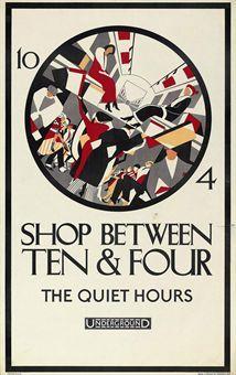 Annie Gertrude Fletcher | SHOP BETWEEN TEN & FOUR | Vintage Posters Auction | posters, London Transport | Christie's