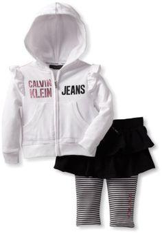 Calvin Klein Baby-Girl`s Infant Hooded Top