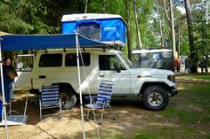 Land Cruiser 78 with Magnolia Roof Tent