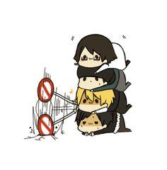 Shinra, Kadota, Shizuo & Izaya