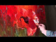 "FREE! Full video ""large poppies"" painter Igor Sakharov - YouTube"