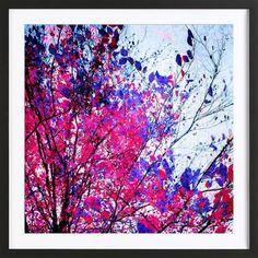 Pink Tree als Poster im Holzrahmen von Mareike Böhmer   JUNIQE